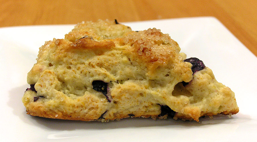 Blueberry Meyer Lemon Scones Recipe — Dishmaps